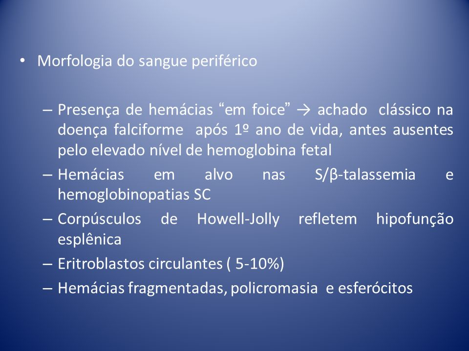 Morfologia do sangue periférico