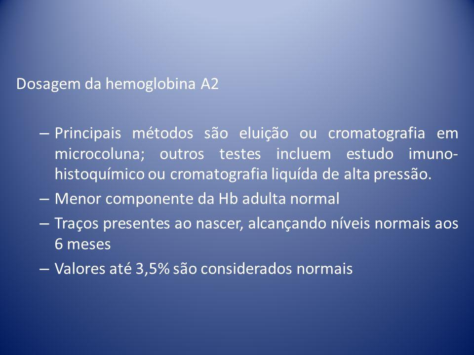 Dosagem da hemoglobina A2