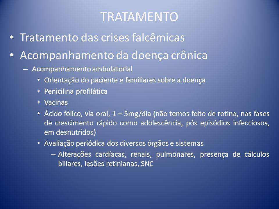 TRATAMENTO Tratamento das crises falcêmicas