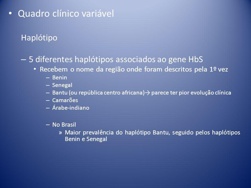 Quadro clínico variável