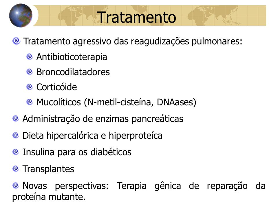 Tratamento Tratamento agressivo das reagudizações pulmonares:
