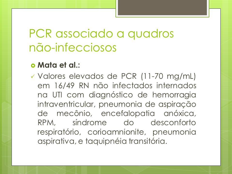 PCR associado a quadros não-infecciosos
