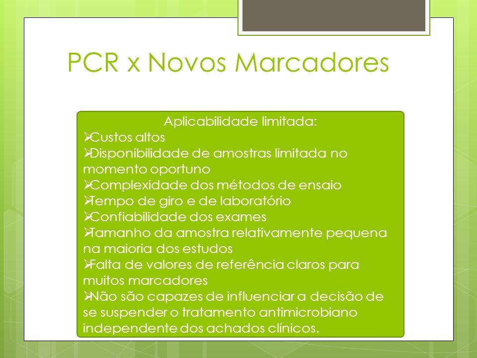 PCR x Novos Marcadores Aplicabilidade limitada: Custos altos