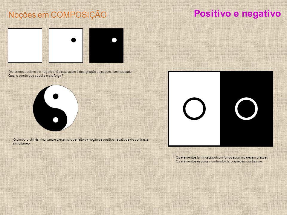 Positivo e negativo Noções em COMPOSIÇÃO
