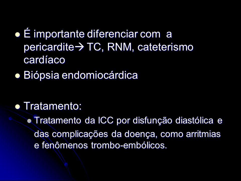 Biópsia endomiocárdica Tratamento: