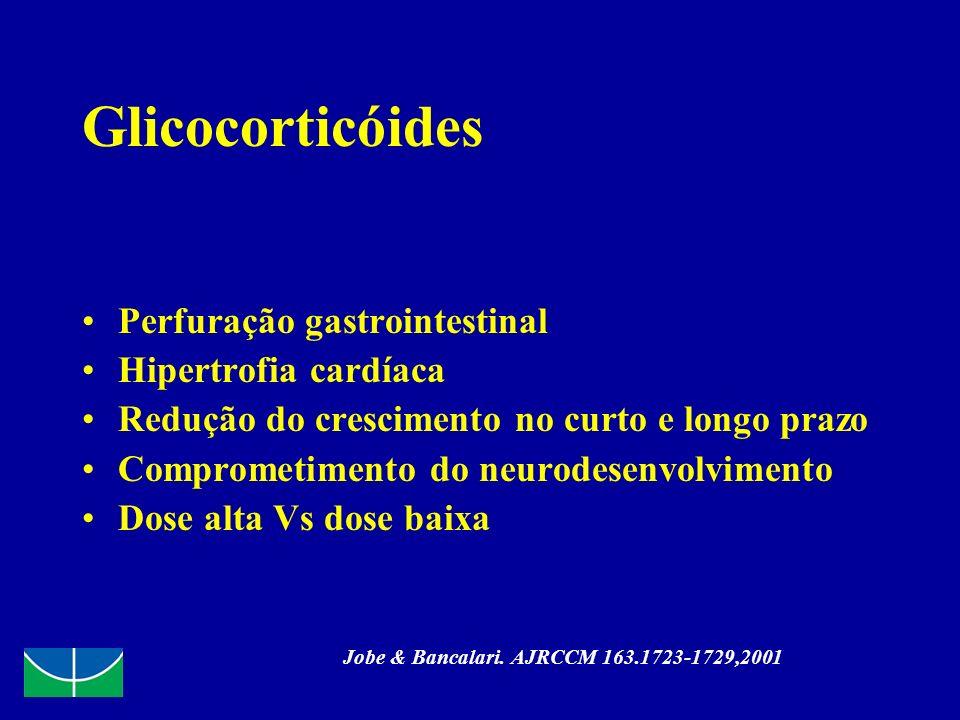 Glicocorticóides Perfuração gastrointestinal Hipertrofia cardíaca