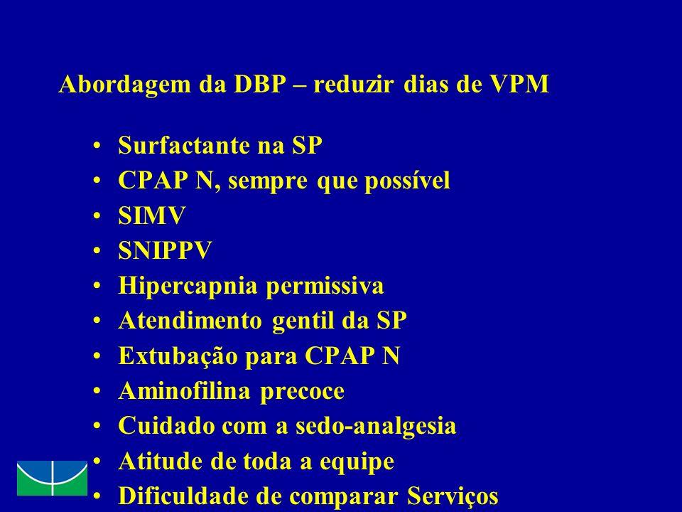Abordagem da DBP – reduzir dias de VPM