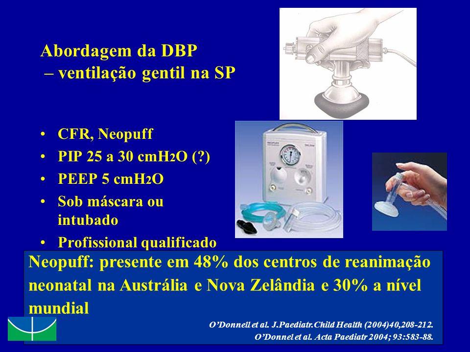 Abordagem da DBP – ventilação gentil na SP