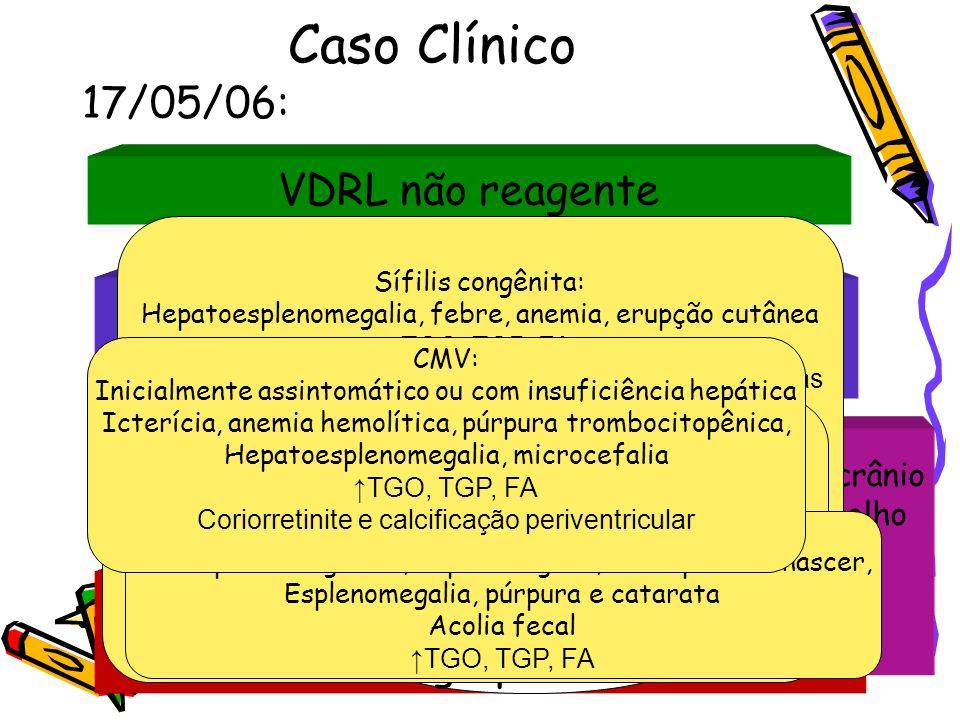 Caso Clínico 17/05/06: VDRL não reagente