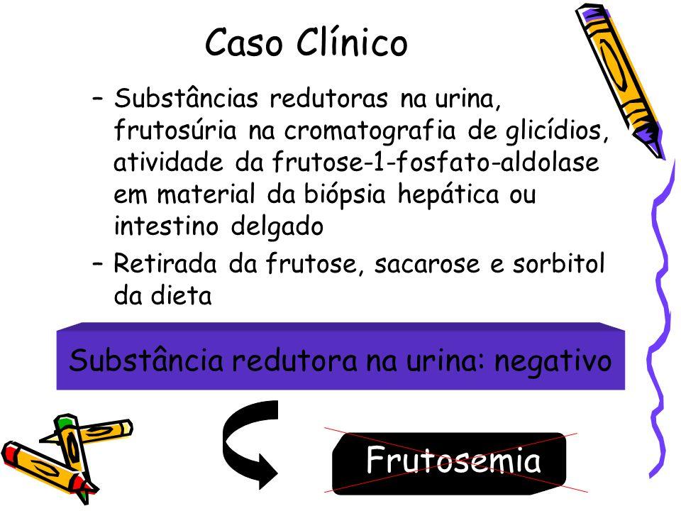 Substância redutora na urina: negativo