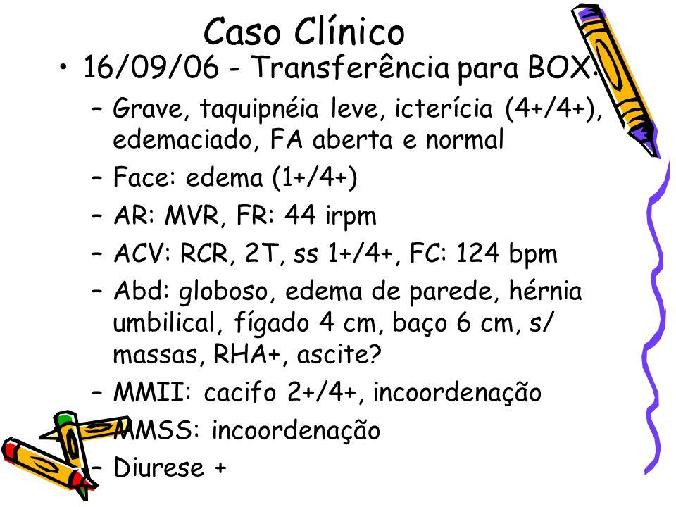 Caso Clínico 16/09/06 - Transferência para BOX: