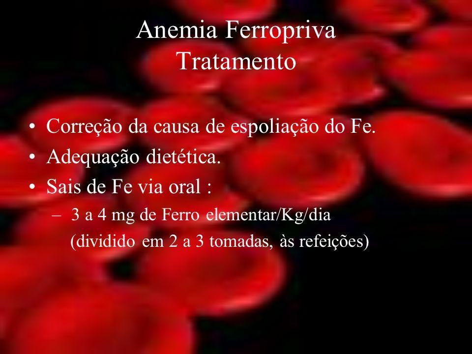 Anemia Ferropriva Tratamento