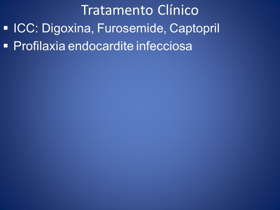 Tratamento Clínico ICC: Digoxina, Furosemide, Captopril