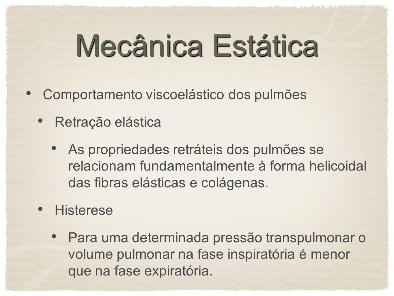 Mecânica Estática Comportamento viscoelástico dos pulmões