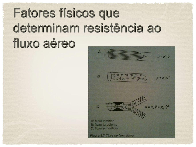 Fatores físicos que determinam resistência ao fluxo aéreo