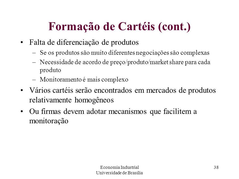 Formação de Cartéis (cont.)