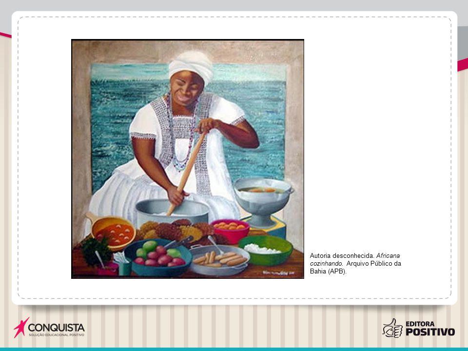 Autoria desconhecida. Africana cozinhando