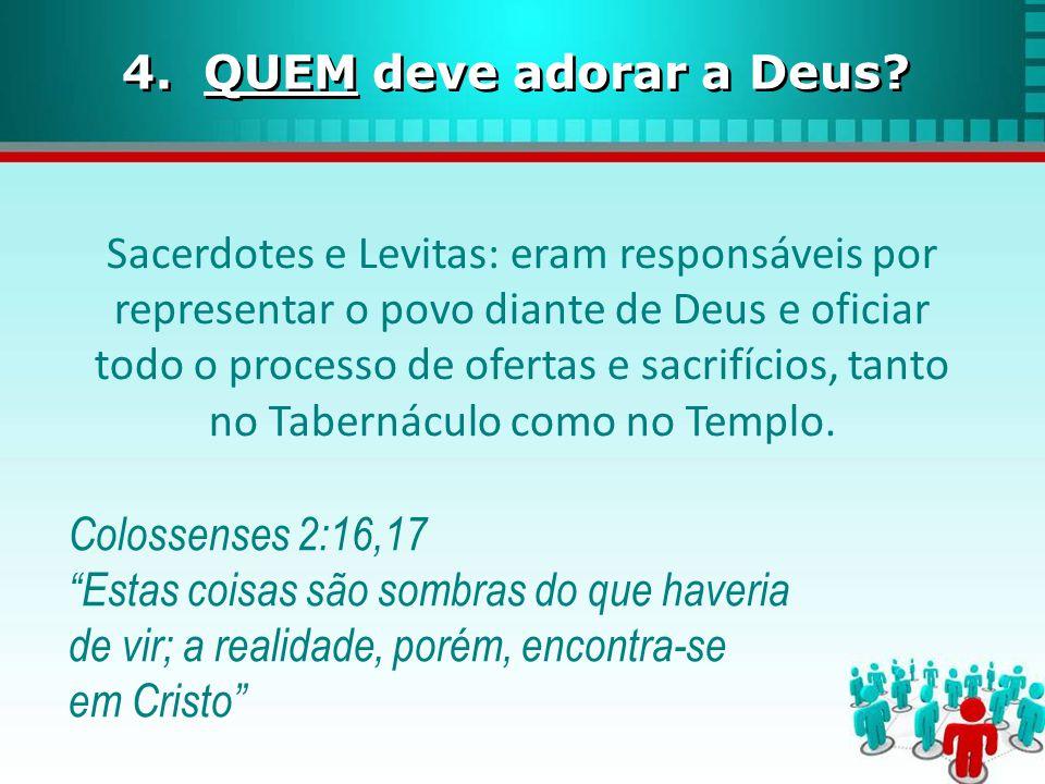 4. QUEM deve adorar a Deus
