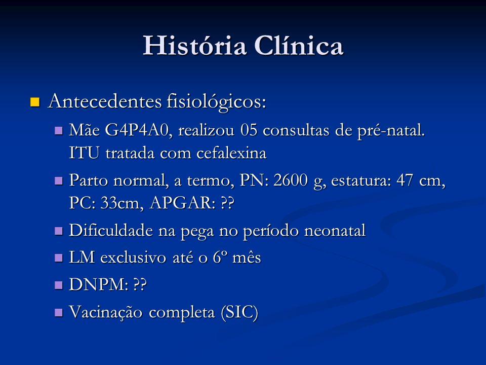 História Clínica Antecedentes fisiológicos: