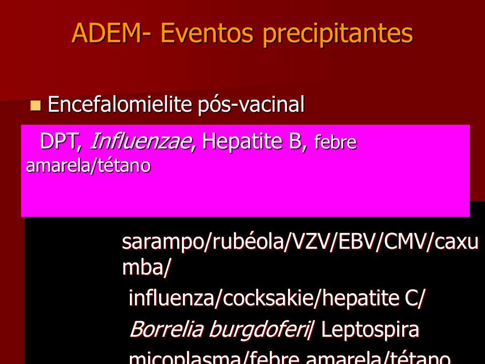 ADEM- Eventos precipitantes