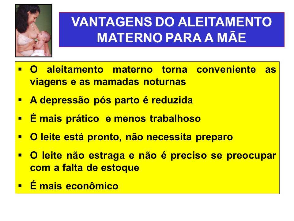 VANTAGENS DO ALEITAMENTO MATERNO PARA A MÃE