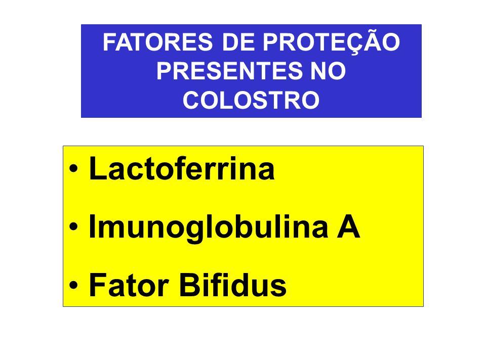 FATORES DE PROTEÇÃO PRESENTES NO COLOSTRO