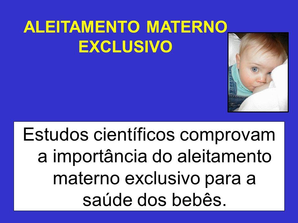 ALEITAMENTO MATERNO EXCLUSIVO