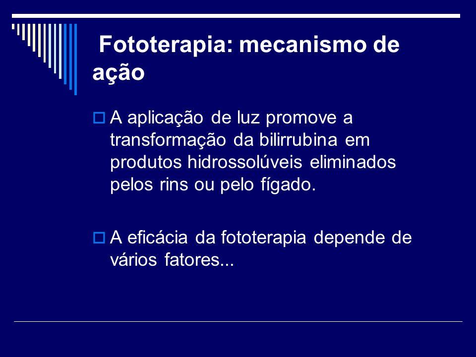 Fototerapia: mecanismo de ação