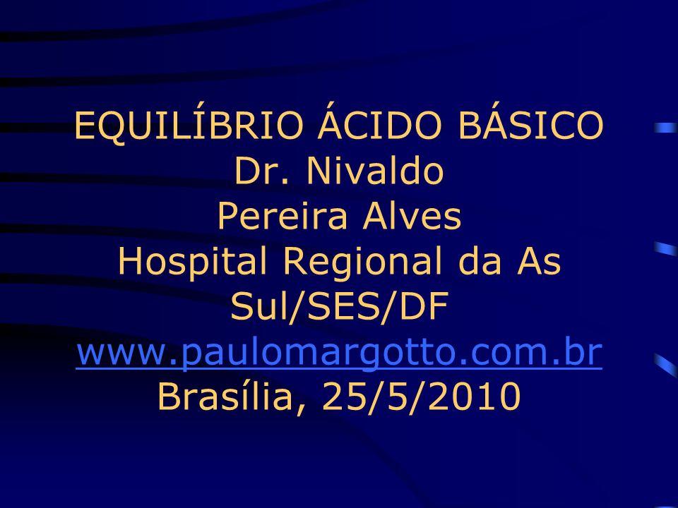 EQUILÍBRIO ÁCIDO BÁSICO Dr