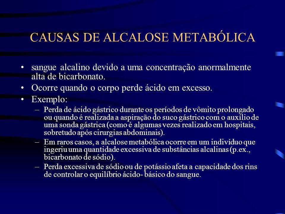 CAUSAS DE ALCALOSE METABÓLICA