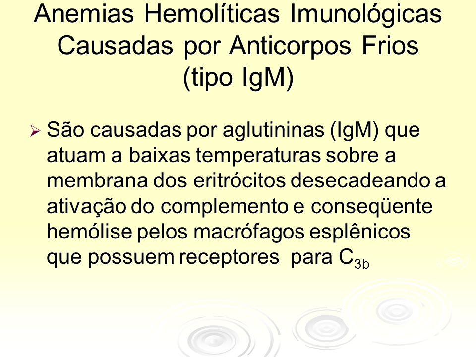 Anemias Hemolíticas Imunológicas Causadas por Anticorpos Frios (tipo IgM)