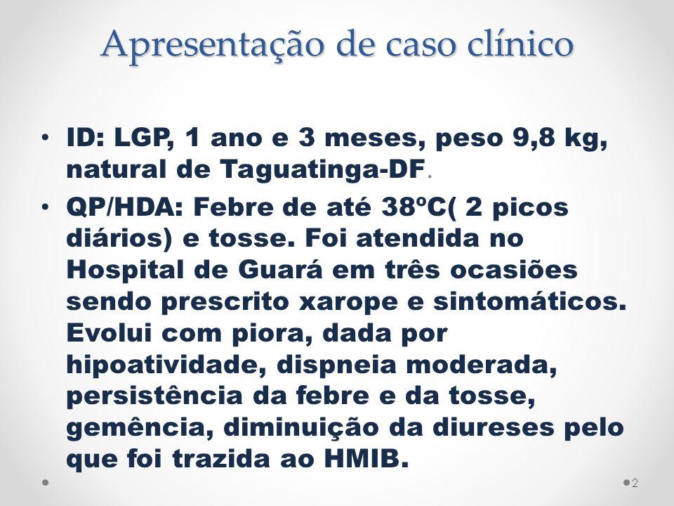 Apresentação de caso clínico