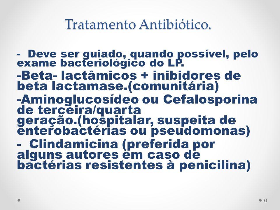 Tratamento Antibiótico.