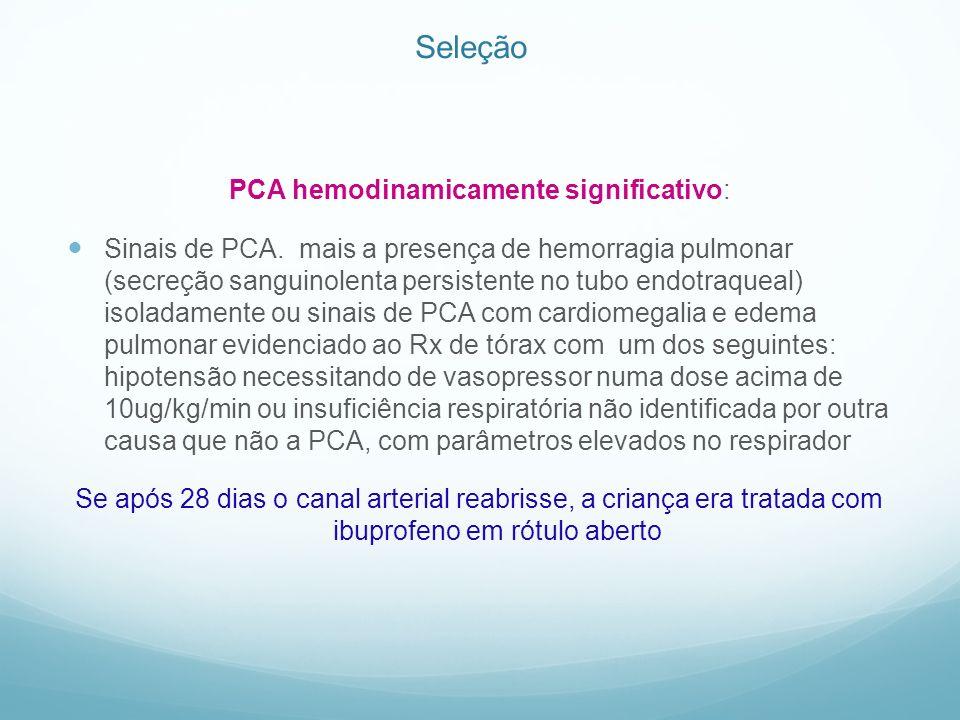 PCA hemodinamicamente significativo: