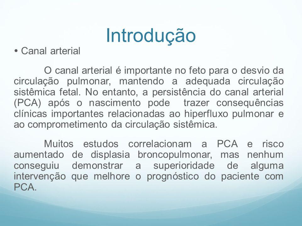 Introdução  Canal arterial