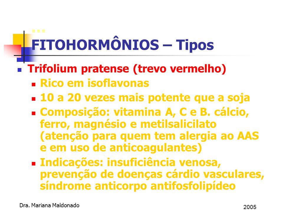 ... FITOHORMÔNIOS – Tipos Trifolium pratense (trevo vermelho)