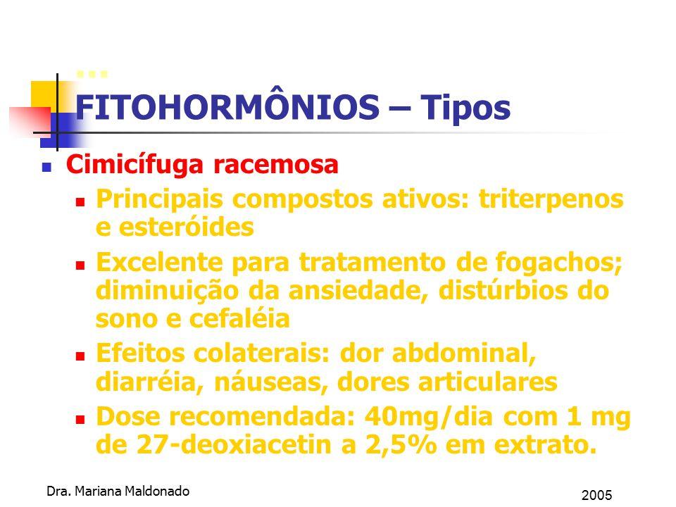 ... FITOHORMÔNIOS – Tipos Cimicífuga racemosa