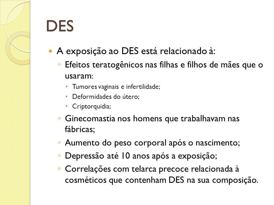 DES A exposição ao DES está relacionado à: