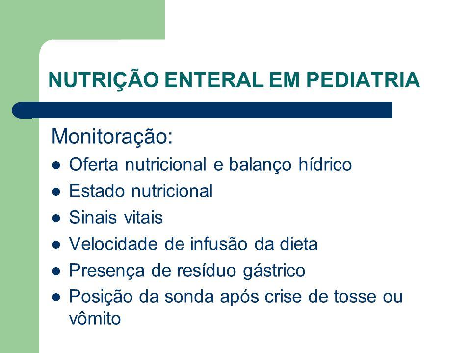 NUTRIÇÃO ENTERAL EM PEDIATRIA
