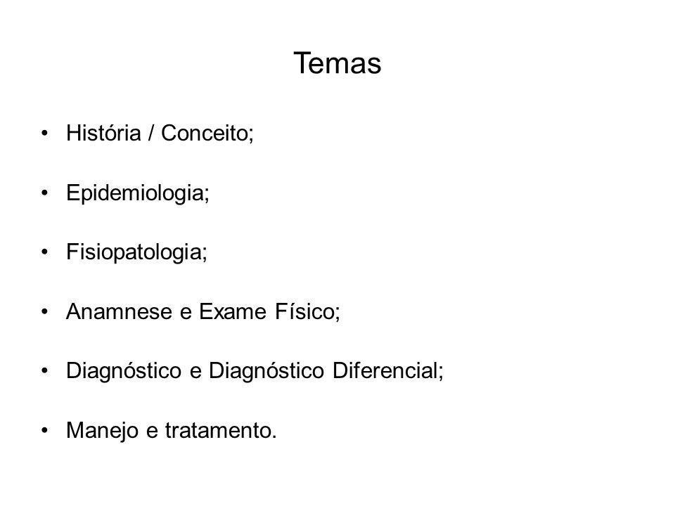 Temas História / Conceito; Epidemiologia; Fisiopatologia;