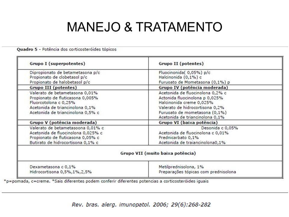 MANEJO & TRATAMENTO
