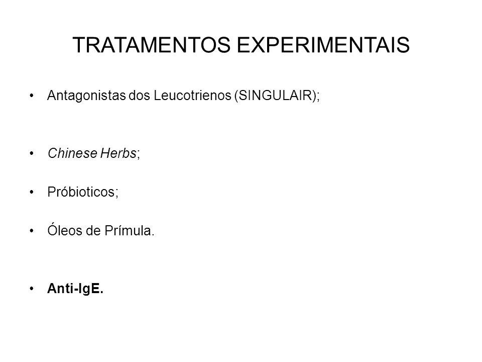 TRATAMENTOS EXPERIMENTAIS