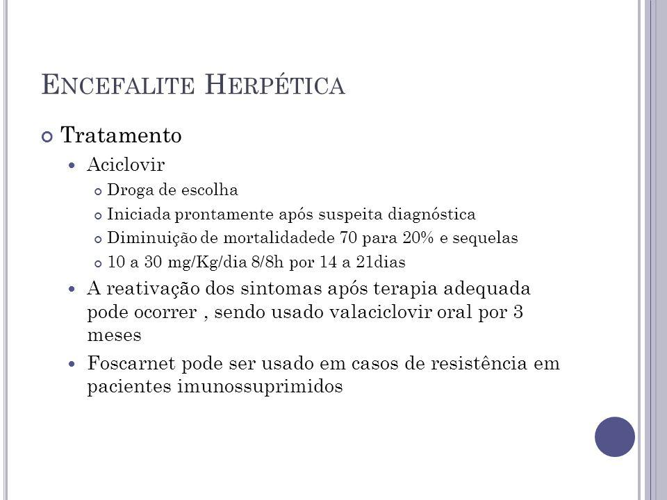 Encefalite Herpética Tratamento Aciclovir