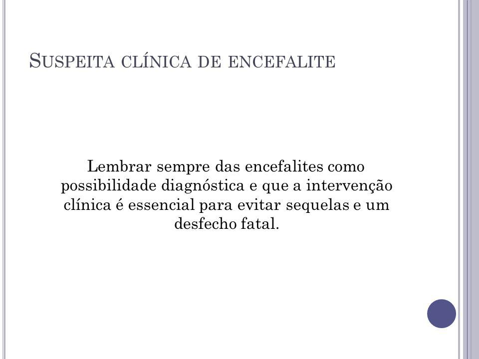 Suspeita clínica de encefalite