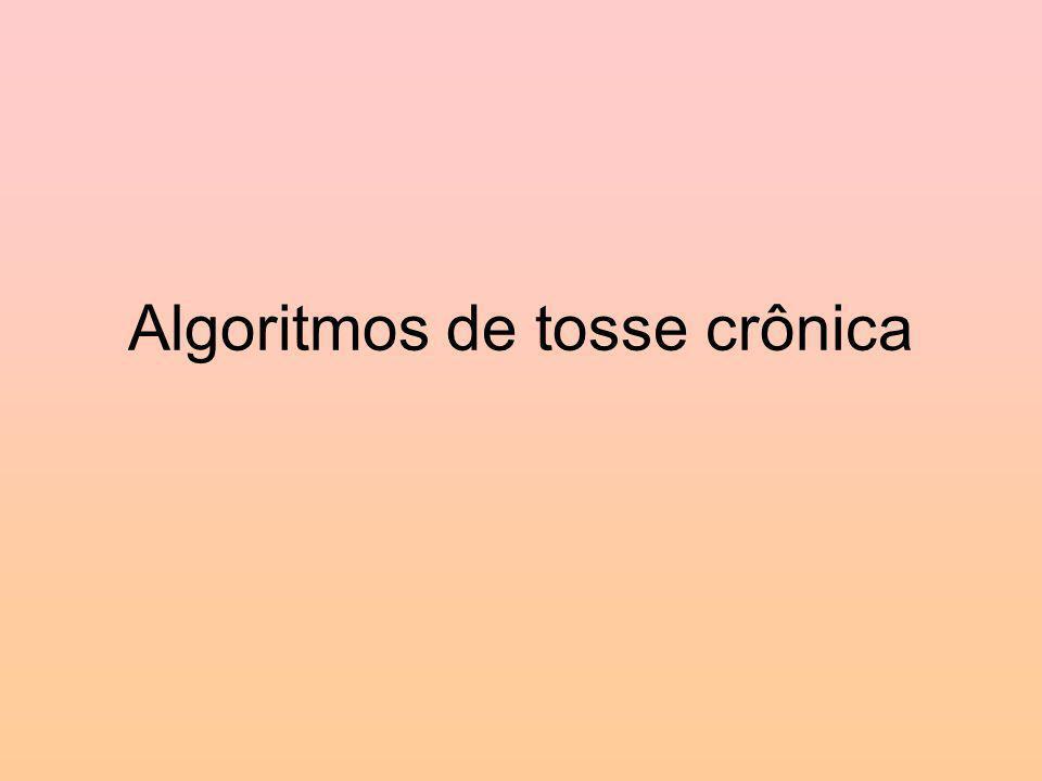 Algoritmos de tosse crônica