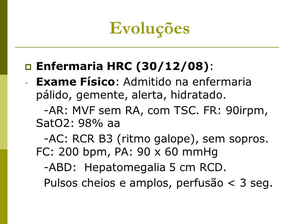 Evoluções Enfermaria HRC (30/12/08):