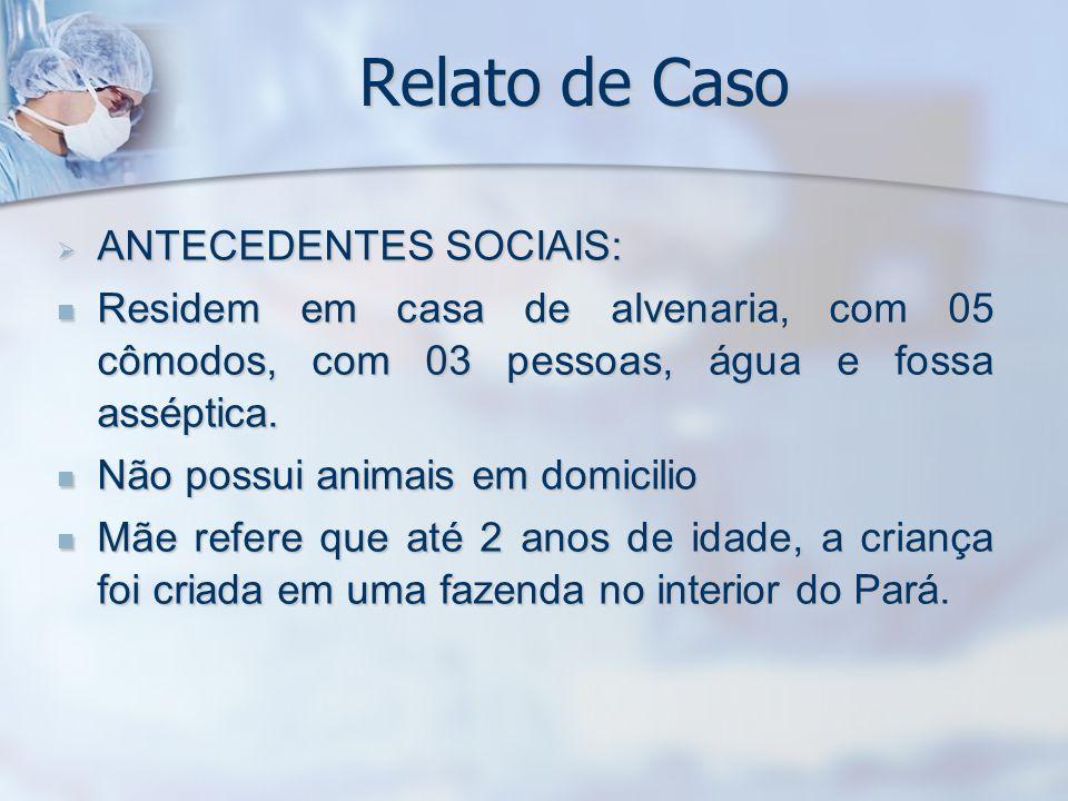 Relato de Caso ANTECEDENTES SOCIAIS: