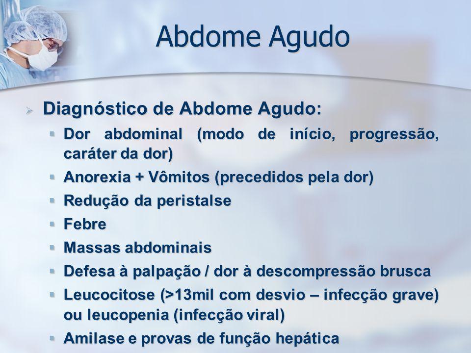 Abdome Agudo Diagnóstico de Abdome Agudo: