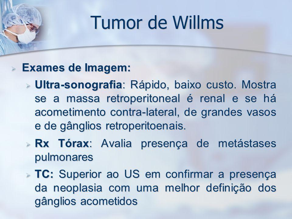 Tumor de Willms Exames de Imagem: