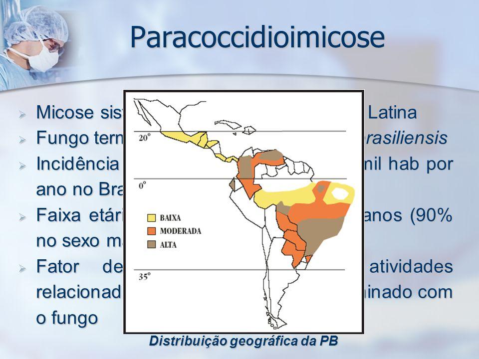 Distribuição geográfica da PB